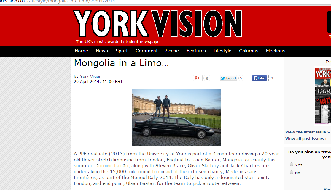 LMLS in the York Vision
